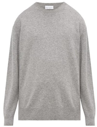 Raey Loose Fit Crew Neck Cashmere Sweater - Mens - Grey