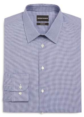 Giorgio Armani Micro Check Modern Fit Dress Shirt