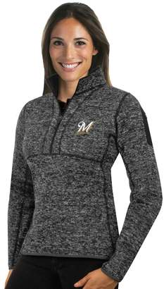 Antigua Women's Milwaukee Brewers Fortune Midweight Pullover Sweater