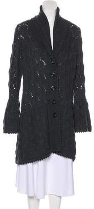 Diane von Furstenberg Wool Long Sleeve Knit Cardigan