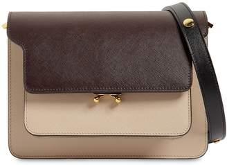 Marni Medium Tricolor Saffiano Trunk Bag