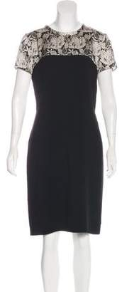 Stella McCartney Silk-Paneled Trompe L'oeil Dress