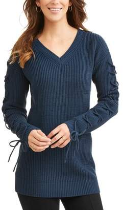Willow & Wind Women's Sweater with Lace Up Arm