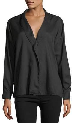 3x1 Moxy Wrap Long-Sleeve Cotton Shirt