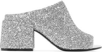 MM6 MAISON MARGIELA Bead-embellished Leather Mules - Silver
