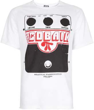 Amplified AMPLIFIED'S White Kurt Cobain Amplifier Print T-Shirt*