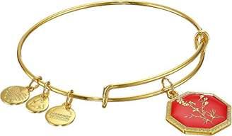 Alex and Ani Neptune's Protection Larkspur Gold-Tone Expandable Wire Bangle Bracelet