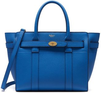 Mulberry Small Zipped Bayswater Porcelain Blue Small Classic Grain