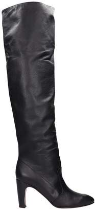 Chie Mihara Black Leather High Boots