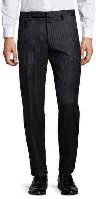 Dries Van Noten Pinstripe Wool Dress Pants