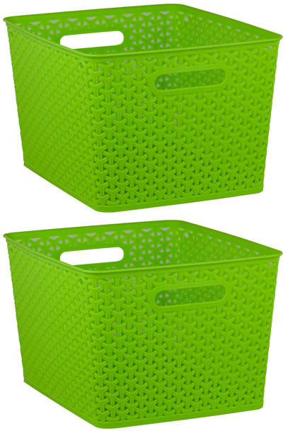 X-Large Green Storage Basket - Set of Two