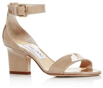 Jimmy Choo Women's Edina 65 Patent Leather High-Heel Sandals