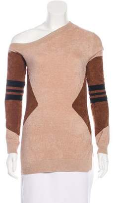 Yigal Azrouel 2018 One-Shoulder Knit Sweater w/ Tags