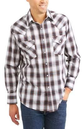 Plains Big and Tall Mens Long Sleeve Plaid Western Shirt