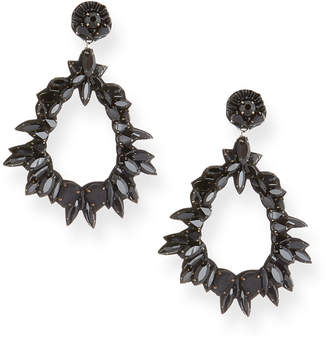 Ranjana Khan Crystal Teardrop Earrings
