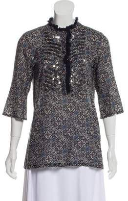 Figue Sequined Three-Quarter Sleeved Tunic