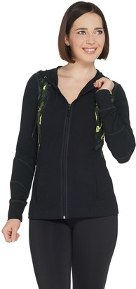 Susan Lucci Collection Hooded Jacket with Color Block Print