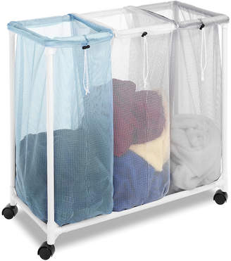 Whitmor Triple Laundry Sorter with Wheels