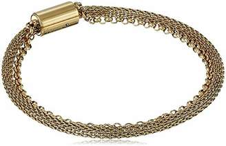 Fossil Women's Double-Strand Mesh and -Tone Stainless Steel Bracelet