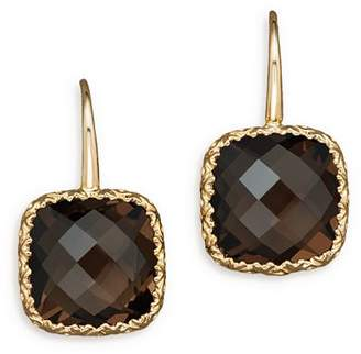 Bloomingdale's 14K White Gold and Smoky Quartz Earrings - 100% Exclusive