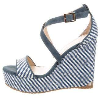 Jimmy Choo Bicolor Woven Wedges