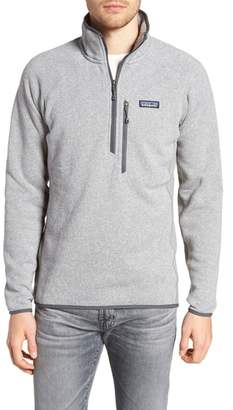 Patagonia Better Sweater(R) Performance Slim Quarter-Zip Pullover
