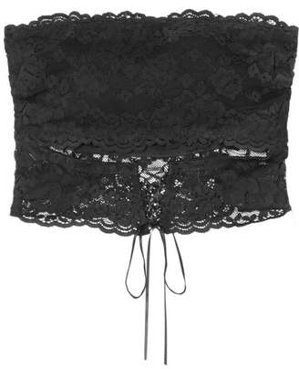 Cosabella Ravello Stretch-lace Bandeau Bra - Black