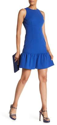 Donna Morgan Sleeveless Ruffle Hem Crepe Dress