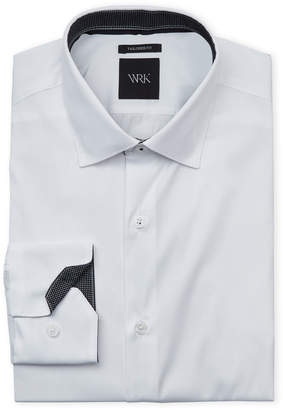 Wrk White Tailored Fit Dress Shirt