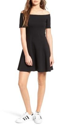 Women's Socialite Off The Shoulder Fit & Flare Dress $55 thestylecure.com