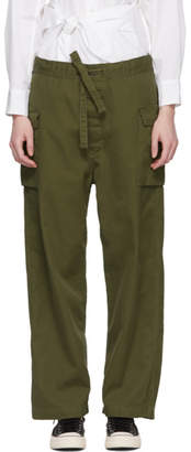 Chimala Green Military Drawstring Trousers