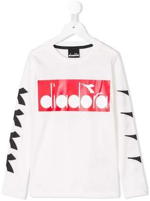 Diadora Junior printed logo T-shirt