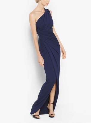 Michael Kors One-Shoulder Stretch-Jersey Gown