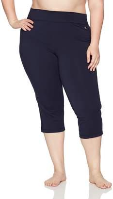 Danskin Women's Plus Size Sleek Fit Yoga Crop Pant