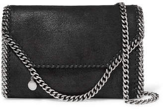 3d95d658896 Stella McCartney The Falabella Faux Brushed-leather Shoulder Bag - Black