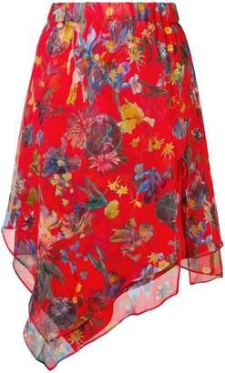 IRO floral print asymmetric skirt