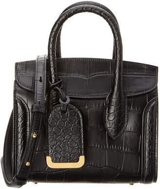 Alexander McQueen Heroine 21 Embossed Leather Satchel