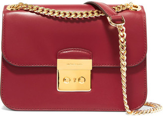 MICHAEL Michael Kors - Sloan Editor Leather Shoulder Bag - Red $385 thestylecure.com