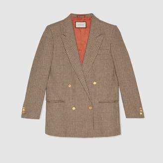 "Gucci Linen jacket with ""Spiritismo"" applique"