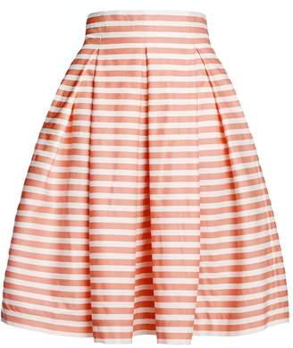 Amalfi by Rangoni Rumour London Coral Striped Midi Skirt