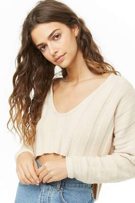 Forever 21 Cropped Ribbed High-Low Sweater