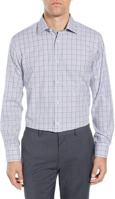 Bugatchi Trim Fit Plaid Dress Shirt