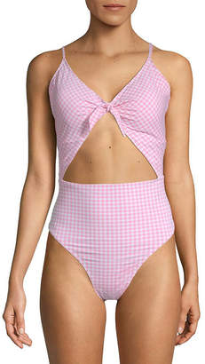 Juicy Couture Cut Out One-Piece Printed Swimsuit