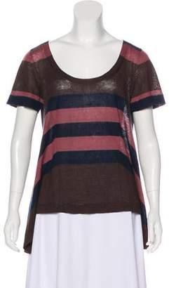 Louis Vuitton Linen & Cashmere-Blend Top