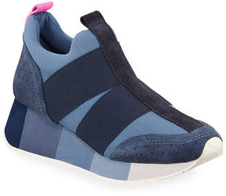 5884f94d946a Donald J Pliner Prix Mixed Suede Pull-On Wedge Sneakers