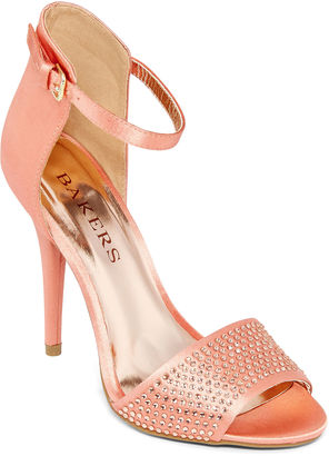 BAKERS Bakers Dreamer Ankle-Strap Heeled Sandals $70 thestylecure.com