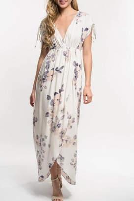 Love Stitch Lavender Floral Maxi
