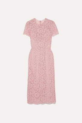 Valentino Guipure Lace Midi Dress - Blush