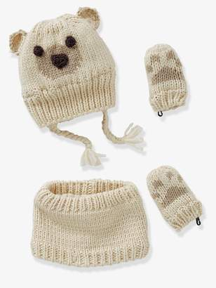 Vertbaudet Knitted Beanie & Snood for Babies