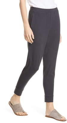 Eileen Fisher Tapered Ankle Stretch Organic Cotton Pants